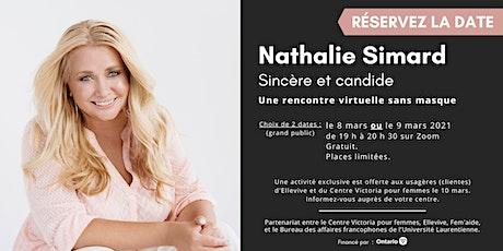 Nathalie Simard, sincère et candide : une rencontre virtuelle sans masque billets
