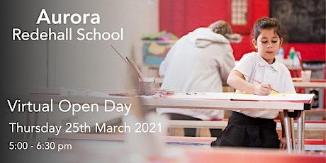 Aurora Redehall School Virtual Open Day - 25th March 2021 tickets