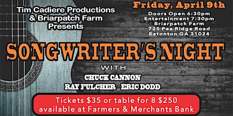 Songwriter's Night - Briarpatch Farm - Eatonton GA tickets
