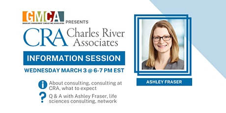 McGill GMCA presents: Charles River Associates Consulting Info Session tickets