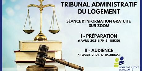 Séance d'information virtuelle - Tribunal administratif du logement tickets