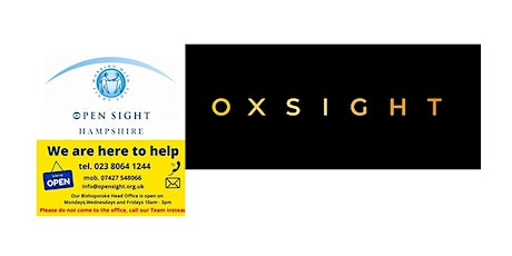 OXSIGHT live demonstration on Smart Glasses  with  Q & A opportunity tickets