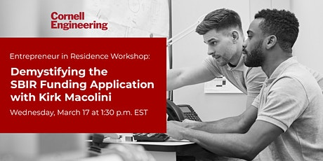 Workshop: Demystifying the SBIR Funding Application tickets