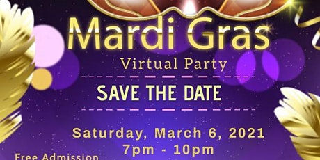 MASQ UP  w/ The Ques Mardi Gras Virtual Party tickets