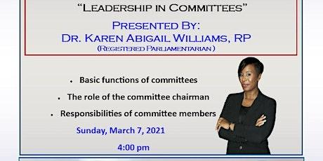 Leadership In Committees tickets