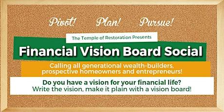 Financial Vision Board Social tickets
