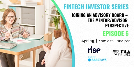 Joining an Advisory Board - The Mentor/Advisor/Investor Perspective tickets