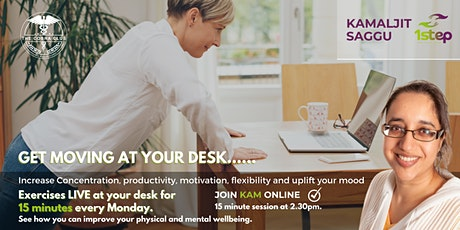 15 minute EXERCISE at your desk tickets