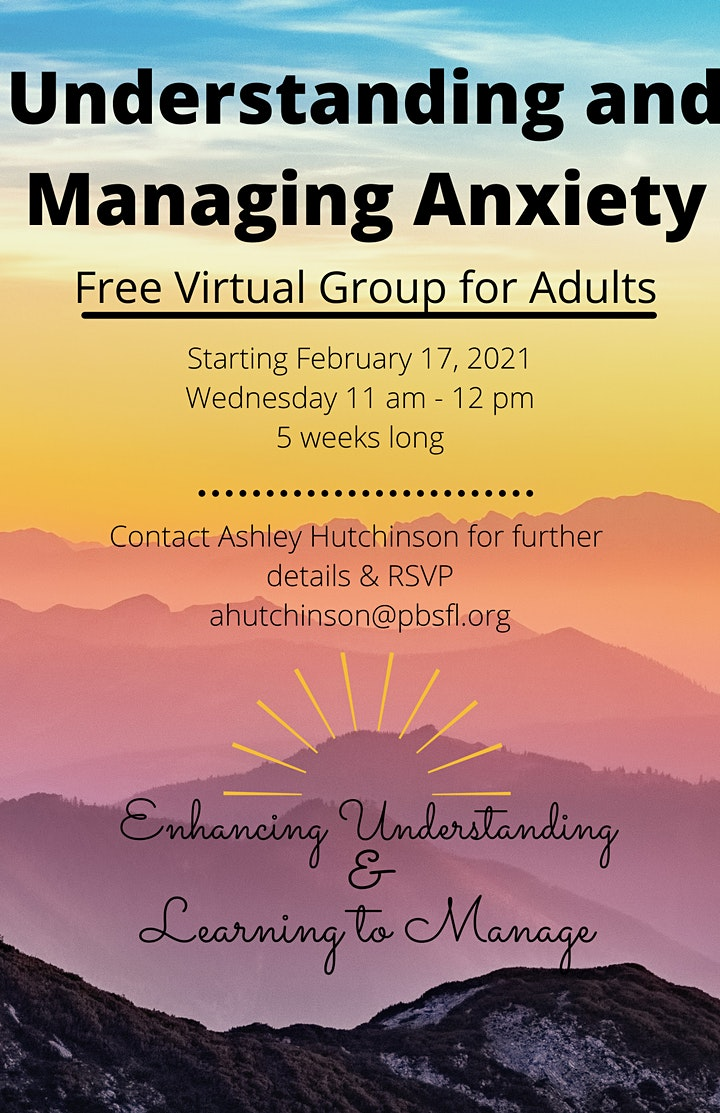 Understanding & Managing Anxiety Support Group image