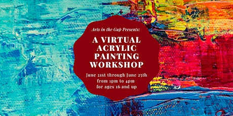 Virtual Acrylic Painting Workshop tickets