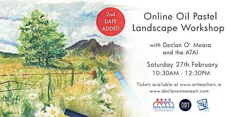 Online Oil Pastel Landscape Workshop with Declan O'Meara Art tickets