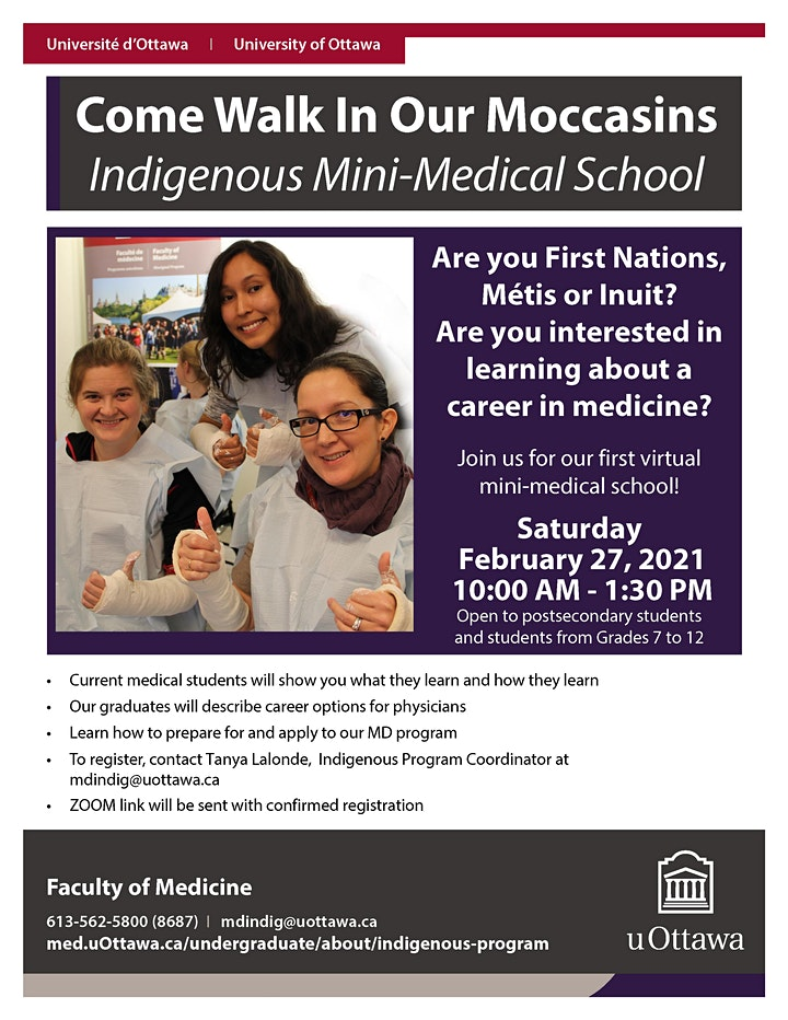 """""""Come Walk in our Moccasins"""" Indigenous Program Mini-Medical School image"""