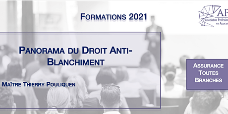 Panorama du Droit Anti-Blanchiment tickets