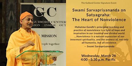 Satyagraha: The Heart of Nonviolence with Swami Sarvapriyananda tickets