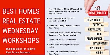 Wednesday Workshop Schedule tickets