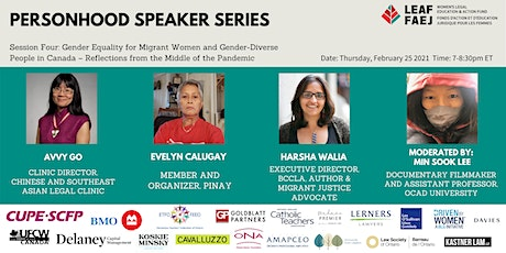 Gender Equality for Migrant Women and Gender-Diverse People in Canada tickets