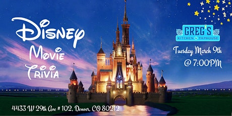 Disney Movies Trivia at Greg's Kitchen and Taphouse tickets