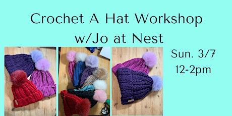 Crochet a Hat with Jo of Sawmill Camerretti tickets