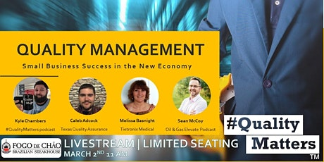 #QualityMatters presents   Quality Management & Success for Small Business tickets