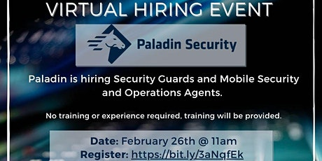 Guildford WorkBC Online Hiring Event with Paladin Security tickets