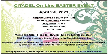 CCA Easter Event 2021 tickets