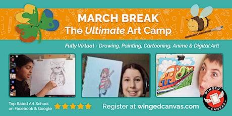 March Break LIVE Virtual Art Camp - Beginner Drawing 5+ tickets
