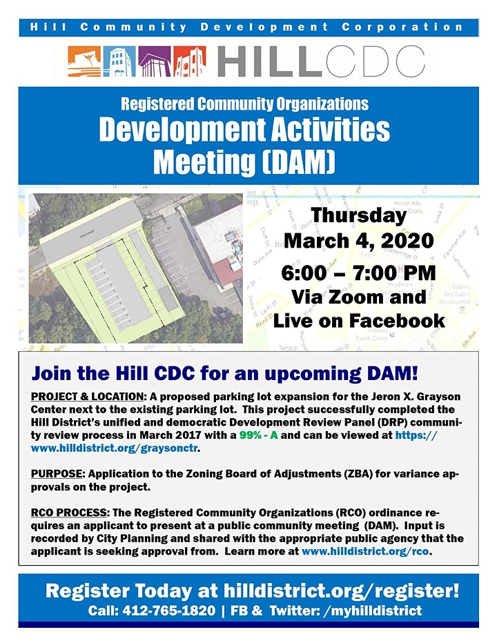 Development Activities Meeting: Grayson Center Parking Lot Expansion image