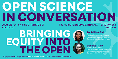 Open Science In Conversation Webinar: Bringing Equity into the Open tickets