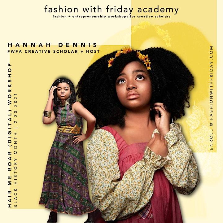 Fashion With Friday Academy:  Hair Me Roar (Digital) Workshop image