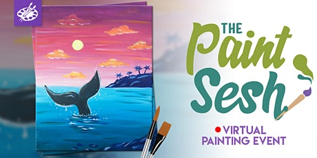 "Online Painting Class – ""Shoreline Greeter"" (Virtual Paint Night at Home) tickets"