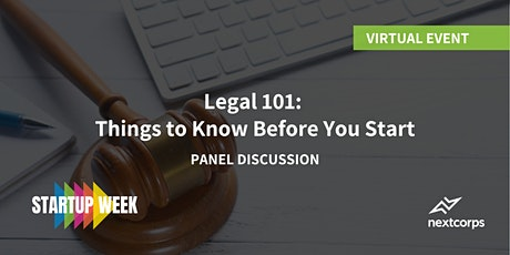 Legal 101: Things to Know Before You Start tickets