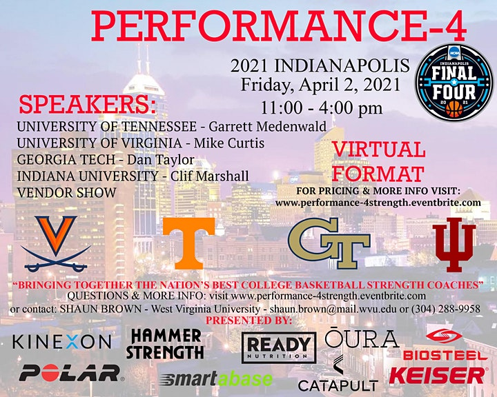 Performance 4 - Final Four Strength Clinic - CEUs Available image