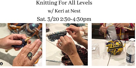 Knitting Workshop For All Levels w/ Keri of Loops by Keri tickets