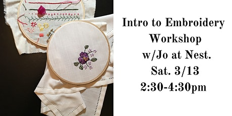 Intro to Embroidery with Jo Cohen of Sawmill Camerretti tickets