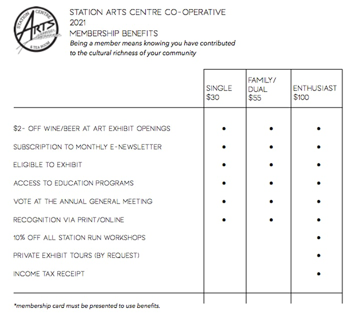 Station Arts 2021 Membership image