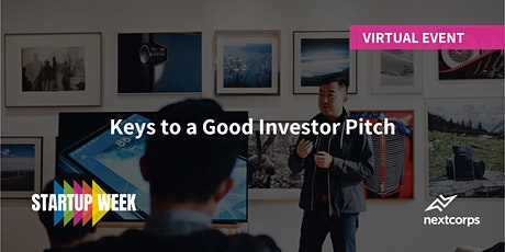 Keys to a Good Investor Pitch tickets