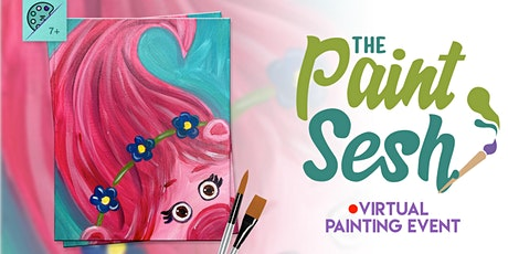 """Online Painting Class – """"Poppy the Troll"""" (Virtual Painting at Home) tickets"""