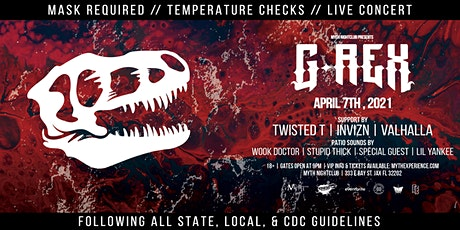 G-Rex Live at Myth Nightclub   Wednesday 4.7.2021 tickets
