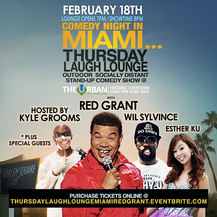 "RED GRANT LIVE - ""Thursday Laugh Lounge"" at The Urban image"