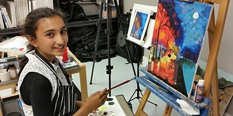 Acrylic Painting for Kids - LIVE Virtual Art Class tickets