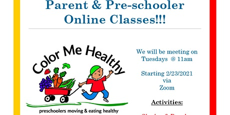 Color Me Healthy for Parents & Preschoolers Online tickets