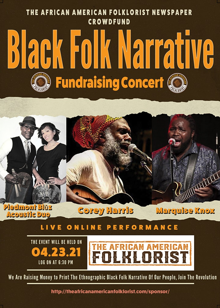 The African American Folklorist Newspaper Fundraising Concert image