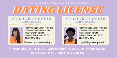 Dating License: Navigating Healthy and Toxic Relationships Workshop tickets