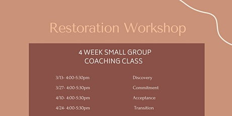 Restoration Workshop tickets