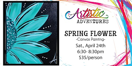 Spring Flower - Canvas Painting Class tickets