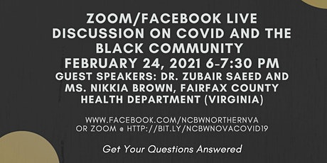 Facebook Live Discussion On Covid -19 And The  Black Community tickets