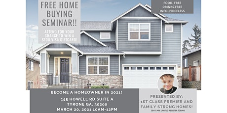 Free Home Buying Seminar- Attend for a Chance to win $100 tickets