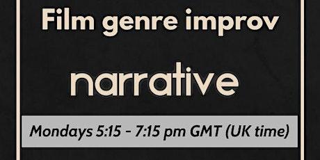 Improvised film genres - Online narrative improv tickets