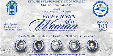 Area IV Finer Womanhood Celebration: Five Facets of a Woman tickets