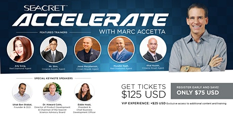 SEACRET ACCELERATE with Marc Accetta  (Asia) tickets